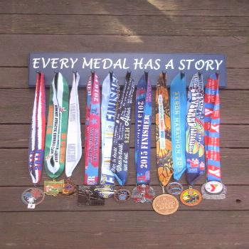 11 Peg Running Medal Display Rack Every Medal Has a