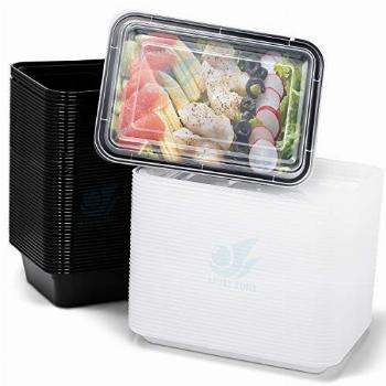 Azure Zone, 50-Pack Rectangular Meal Prep Food Container