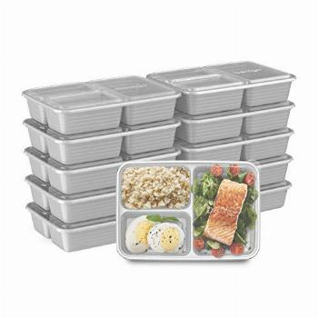 Bentgo Prep 3-Compartment Meal-Prep Containers with