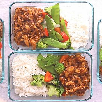 Crock Pot Teriyaki Chicken Meal prep the easiest crock pot teriyaki chicken with stir-fried veggies