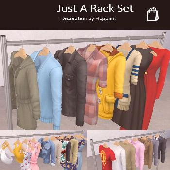 Just A Rack Set by Floppant via tumblr | Retail - Fashion Store | BCG | Sims 4 | TS4 | Maxis Match