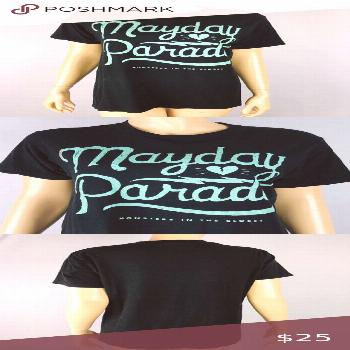 Mayday Parade Monsters In The Closet Womens M Tee Tag Size: M  Chest - armpit to armpit, lying flat