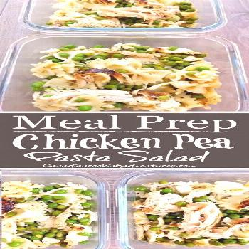 Meal Prep - Chicken Pea Pasta Salad!