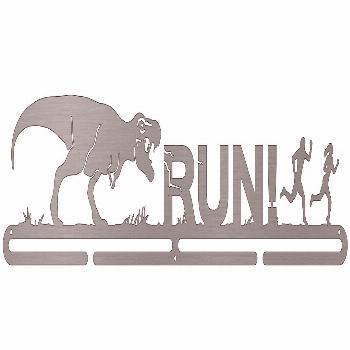 T-Rex - RUN! | Sport & Running Medal Displays | The Original Stainless Steel Medal Display